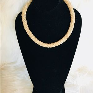 Nude Crystal Rope Necklace